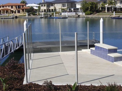 Glass Pool Fencing Semi Frameless