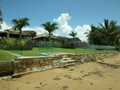 Glass Pool Fencing Frameless Design 12 in Channel