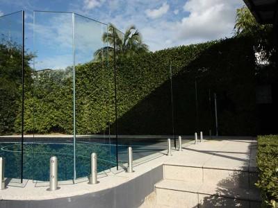 Glass Pool Fencing Frameless Design 12 Mini Post-12