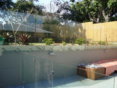 Glass Pool Fencing Frameless Design 12 Side Fixed-2