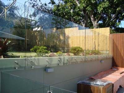 Glass Pool Fencing Frameless Design 12 Side Fixed-3