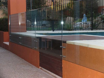 Glass Pool Fencing Frameless Design 12 Side Fixed-4