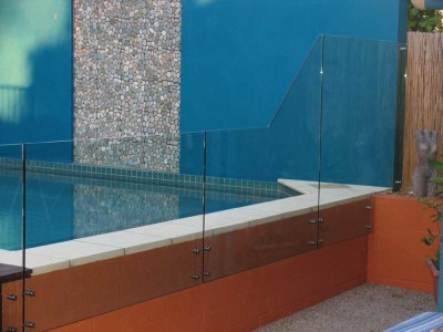 Glass Pool Fencing Frameless Design 12 Side Fixed-5