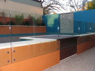 Glass Pool Fencing Frameless Design 12 Side Fixed-6