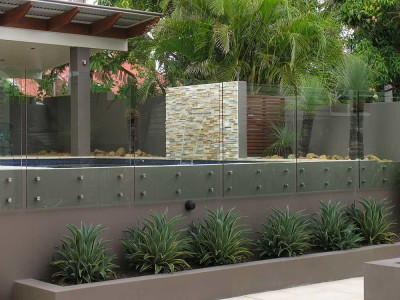 Glass Pool Fencing Frameless Design 12 Side Fixed-8