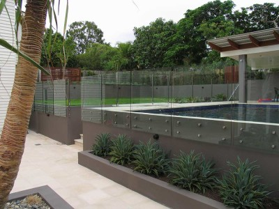 Glass Pool Fencing Frameless Design 12 Side Fixed-9
