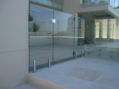 Glass Pool Fencing Frameless Design 12 Side Fixed-10