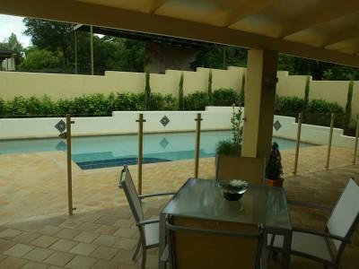 Glass Pool Fencing Semi Frameless Design 8-5