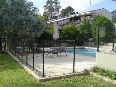 Glass Pool Fencing Semi Frameless Design 8-9