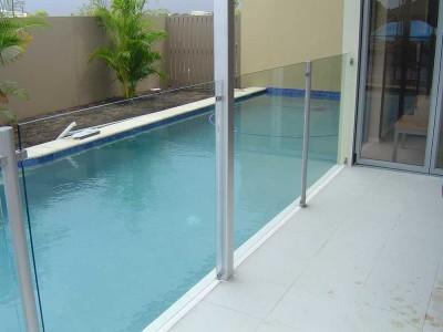 Glass Pool Fencing Semi Frameless Design 8-10