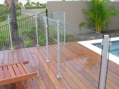 Glass Pool Fencing Semi Frameless Design 8-11