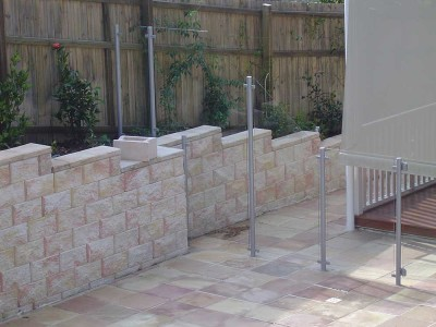 Glass Pool Fencing Semi Frameless Design 8-12