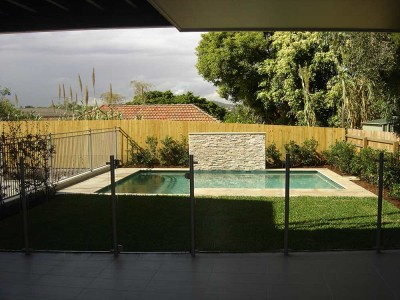 Glass Pool Fencing Semi Frameless Design 8-14