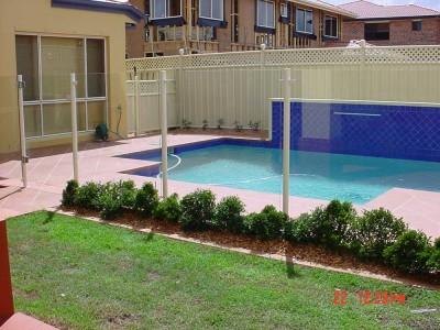 Glass Pool Fencing Semi Frameless Design 8-17