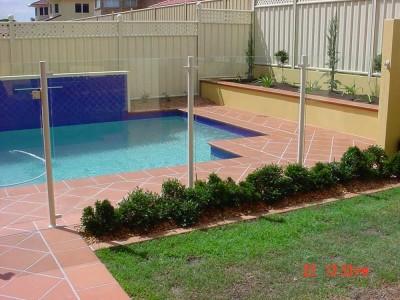Glass Pool Fencing Semi Frameless Design 8-18