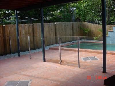 Glass Pool Fencing Semi Frameless Design 8-19