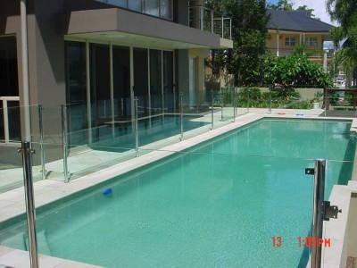 Glass Pool Fencing Semi Frameless Design 8-20