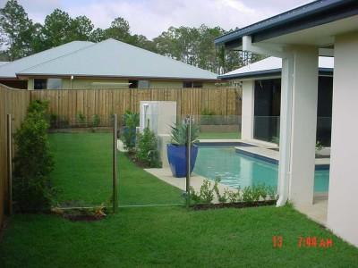 Glass Pool Fencing Semi Frameless Design 8-22