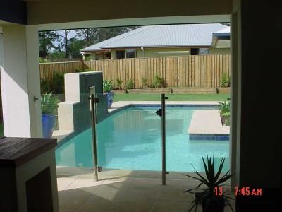 Glass Pool Fencing Semi Frameless Design 8-23