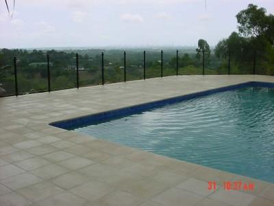 Glass Pool Fencing Semi Frameless Design 8-24