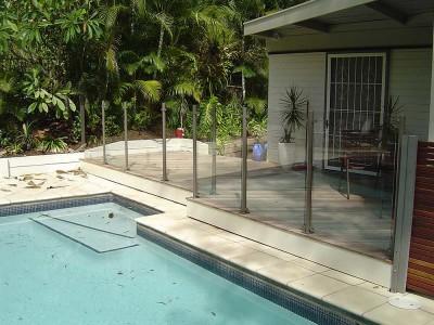Glass Pool Fencing Semi Frameless Design 8-27