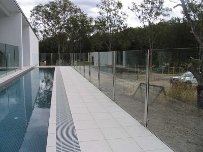 Glass Pool Fencing Semi Frameless Design 8-29