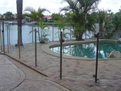 Glass Pool Fencing Semi Frameless Design 8-30