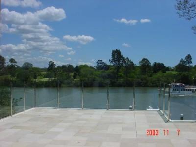 Glass Pool Fencing Semi Frameless Design 8-35