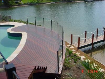 Glass Pool Fencing Semi Frameless Design 8-38