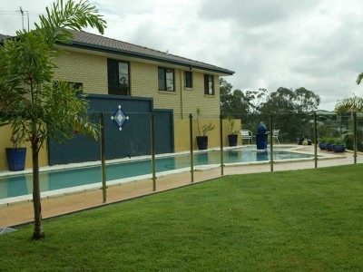 Glass Pool Fencing Semi Frameless Design 8 Stainless Steel