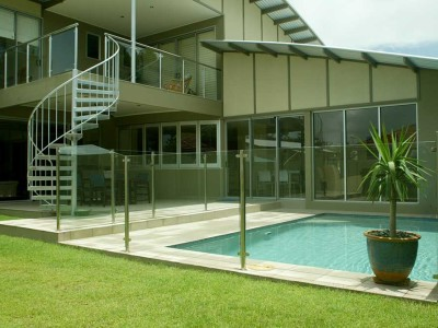 Glass Pool Fencing Semi Frameless Design 8 Stainless Steel-2