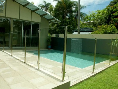 Glass Pool Fencing Semi Frameless Design 8 Stainless Steel-3