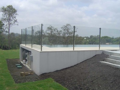 Glass Pool Fencing Semi Frameless Design 8 Stainless Steel-10