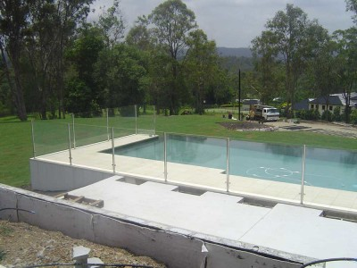 Glass Pool Fencing Semi Frameless Design 8 Stainless Steel-13