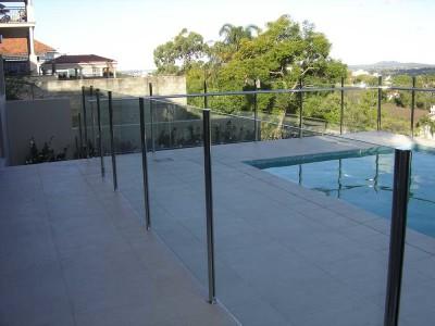 Glass Pool Fencing Semi Frameless Design 8 Stainless Steel-15