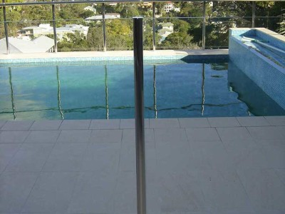 Glass Pool Fencing Semi Frameless Design 8 Stainless Steel-16