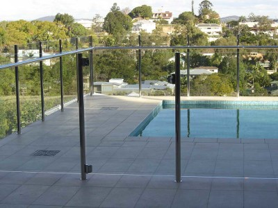 Glass Pool Fencing Semi Frameless Design 8 Stainless Steel-17
